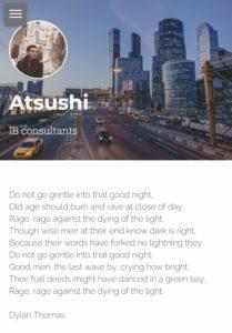 AtushI on Strikingly