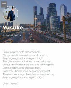 Yuske on Strikingly