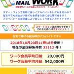メールワーク/MAIL WORKの偽副業にご注意!